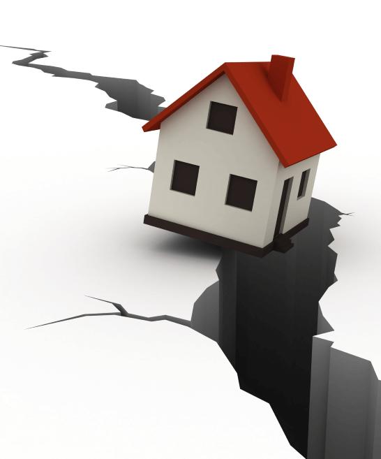 Casa sobre suelo roto