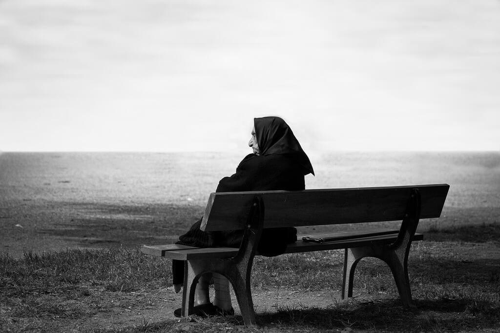 Anciana abandonada